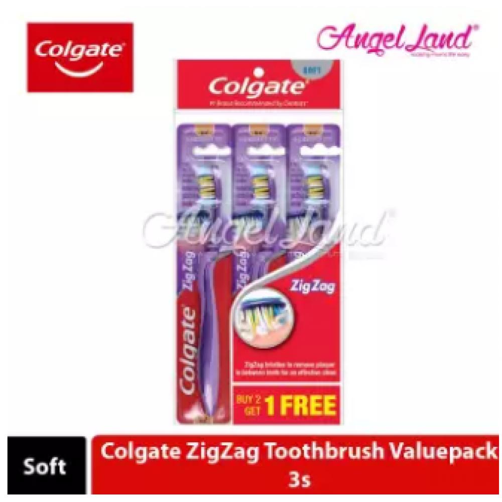 Colgate ZigZag Toothbrush Valuepack 3s - Soft
