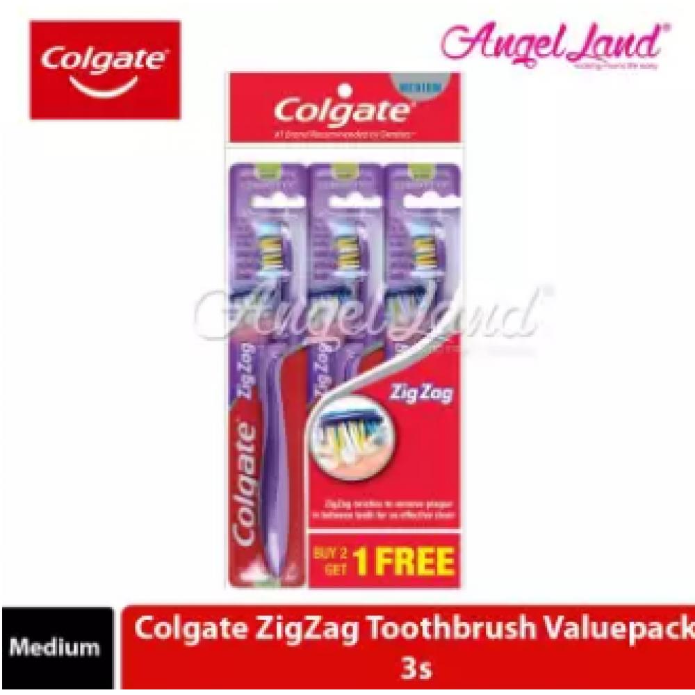 Colgate ZigZag Toothbrush Valuepack 3s - Medium