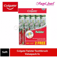 image of Colgate Twister Toothbrush Valuepack 5s - Soft