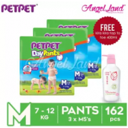 image of PetPet Daypants Jumbo Pack M54/L46/XL40/XXL32 (3 Packs) + FOC Kira Kira Top To Toe 400ml