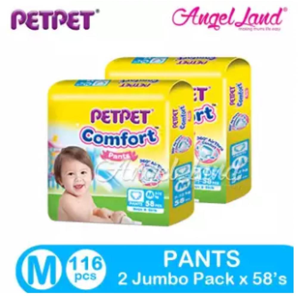 PETPET Comfort Pants Jumbo Pack M58/L46/XL40/XXL34 (2Packs)