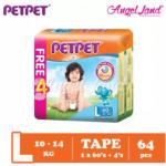 PETPET Tape Mega Pack S80+4/M72+4/L60+4/XL48+4 (1pack)