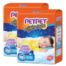 image of PETPET Night Tape Diaper Jumbo Packs S42/M40/L32/XL30 (2packs)