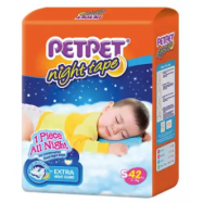 image of PETPET Night Tape Diaper Jumbo Packs S42/M40/L32