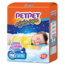 image of PETPET Night Tape Diaper Jumbo Packs S42/M40/L32