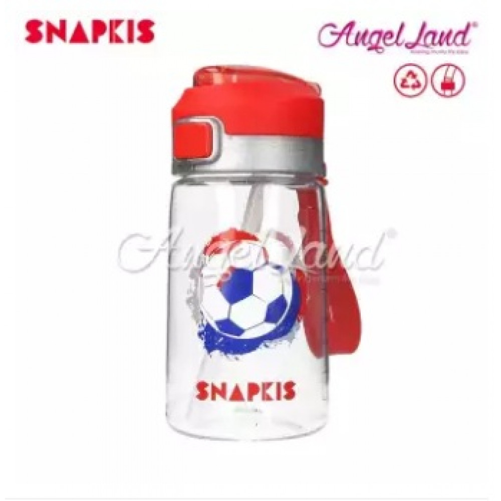 Snapkis Straw Water Bottle Football 400ml (From 5y+)