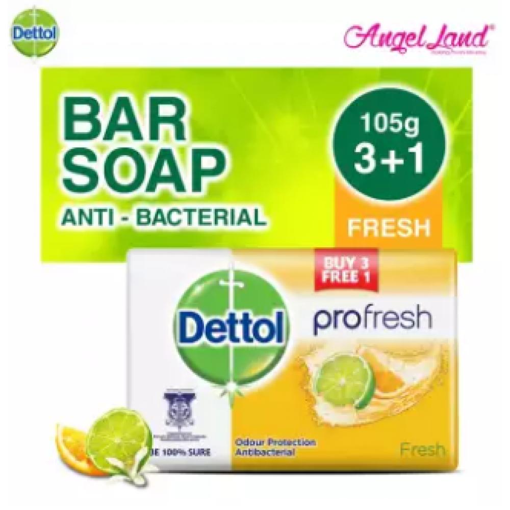 Dettol Body Soap Fresh 105g 3+1