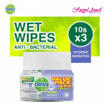 Dettol Personal Care Wipes Sensitive Value Pack 10s x 3