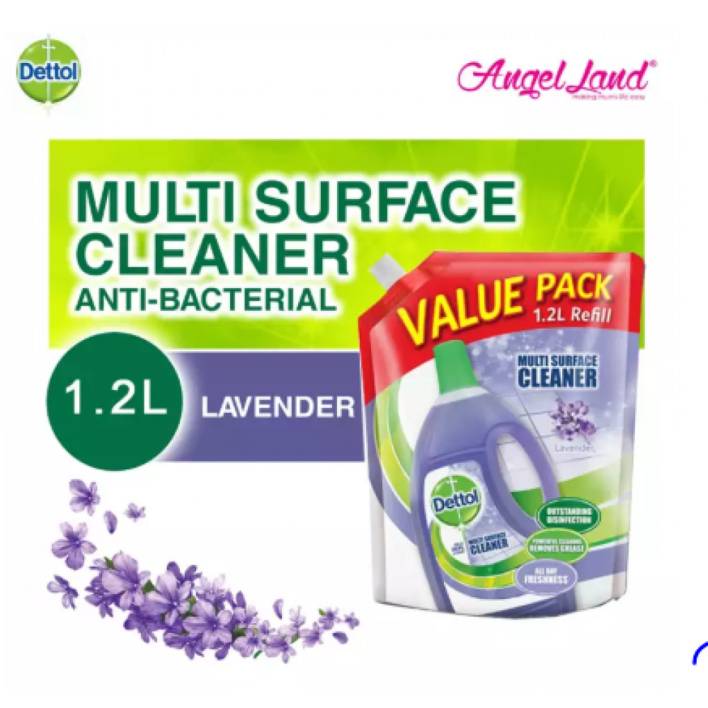 Dettol Multi Action Cleaner Refill Pouch 1.2L Lavender
