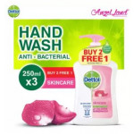 Dettol Hand Wash Skincare 250ml x 3 Value Pack