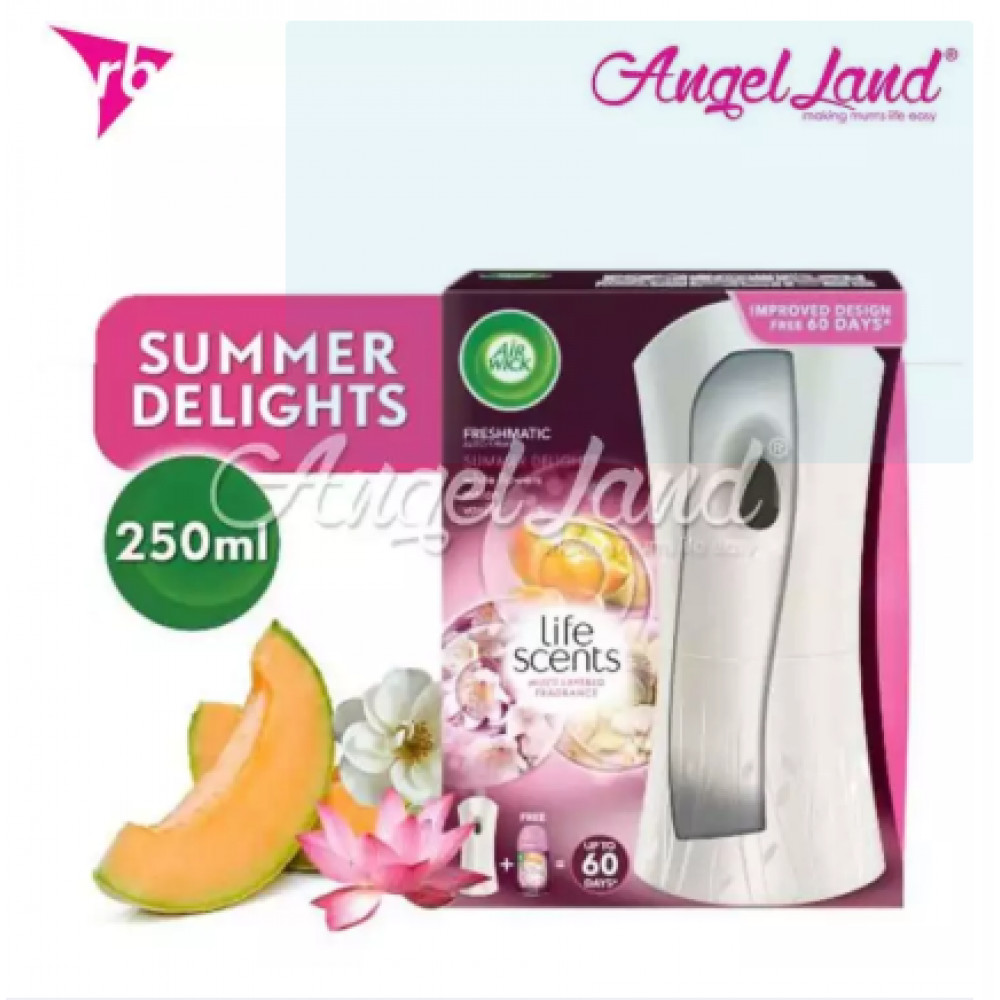 Air Wick Life Scent Freshmatic Summer Delight Automatic Spray Starter Kit 1pc