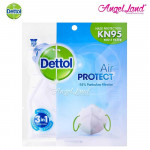 (Buy2 Free 1) Dettol KN95 PM2.5 Filter Adult Mask (Protection against germs, haze and air pollution)