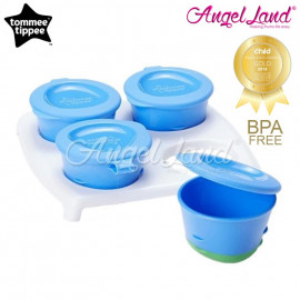 image of Tommee Tippee Pop Up Freezer Pots With Tray 446500/38 - Blue