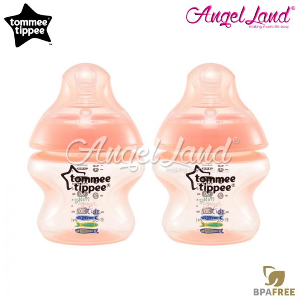 Tommee Tippee Closer to Nature Tinted Bottle 150ml (5oz) x2 Peach
