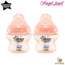 image of Tommee Tippee Closer to Nature Tinted Bottle 150ml (5oz) x2 Peach