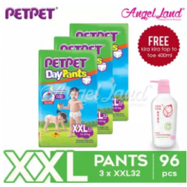 image of PetPet Daypants Jumbo Pack XXL32 (3 Packs) + FOC Kira Kira Top To Toe 400ml