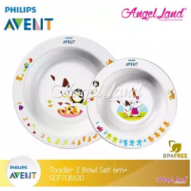 image of Philips Avent Toddler 2-bowl set 6m+ SCF708/00