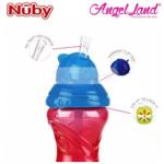 Nuby Click-it Flip-it Cup Fat Straw 12oz/360ml (12 months+) NB10112 - Blue/Yellow