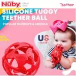 Nuby Tuggy Teething Ball (3m+) NB6869 -Blue