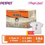 PetPet 2x E-Mega Tape (S -166.0)/ (M - 150.0)/ (L - 124.0)/ (XL - 100.0) + 1x Daynight Pants Diaper FOC Poney Shirt [Exclusive]
