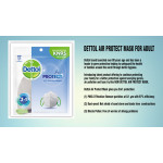 Dettol KN95 PM2.5 Filter Adult Mask (Protection against germs, haze and air pollution) (1pcs)