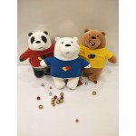 We Bare Bears - Plush Toys with clothes