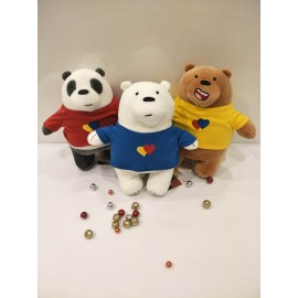 image of We Bare Bears - Plush Toys with clothes