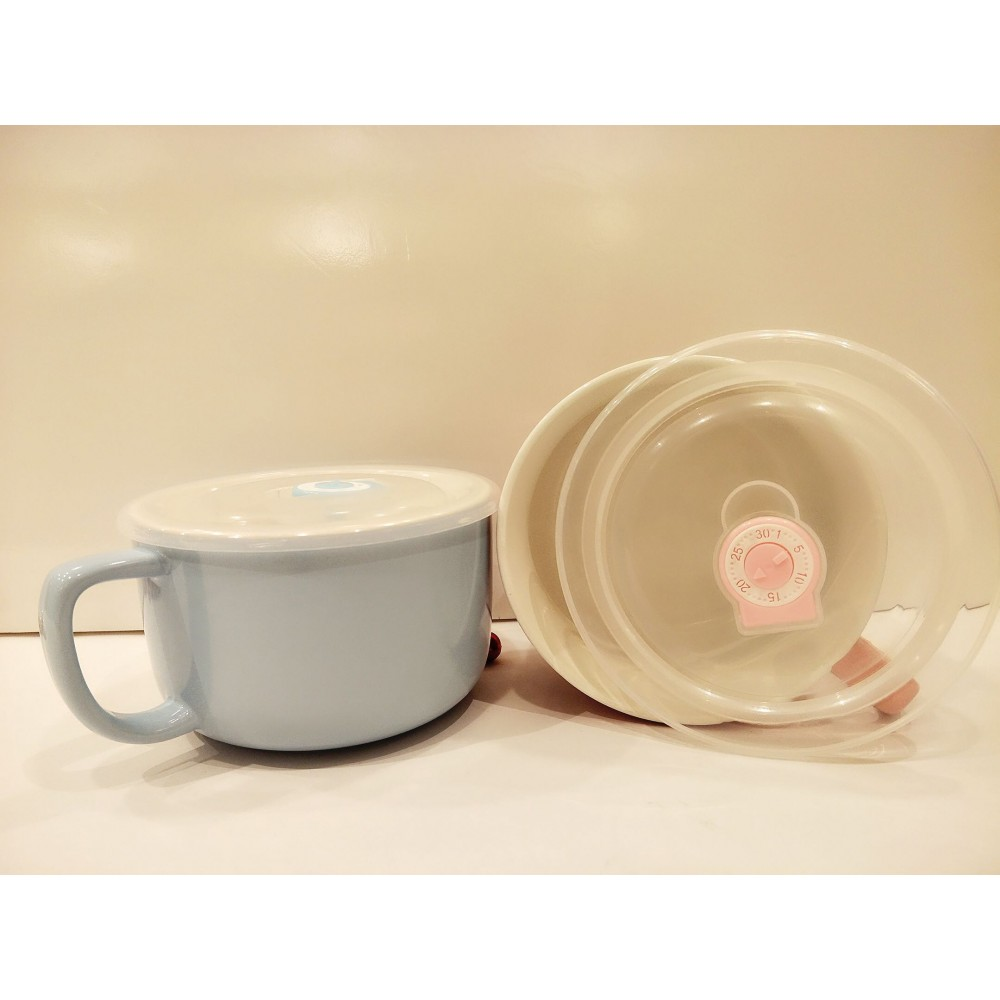 Ceramic Noodles Bowl with handle - 620ml