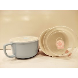 image of Ceramic Noodles Bowl with handle - 620ml