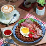 Waffle and Coffee set for 1 person