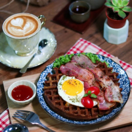 image of Waffle and Coffee set for 1 person