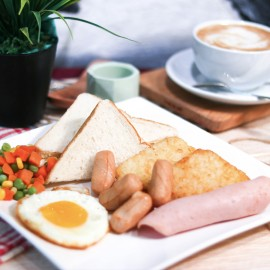 image of Breakfast and Drink Set for 1 person