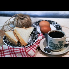 image of Breakfast with coffee set for 1 person