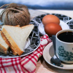 Breakfast with coffee set for 1 person