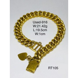 image of Pre-owned bracelet 916 gold