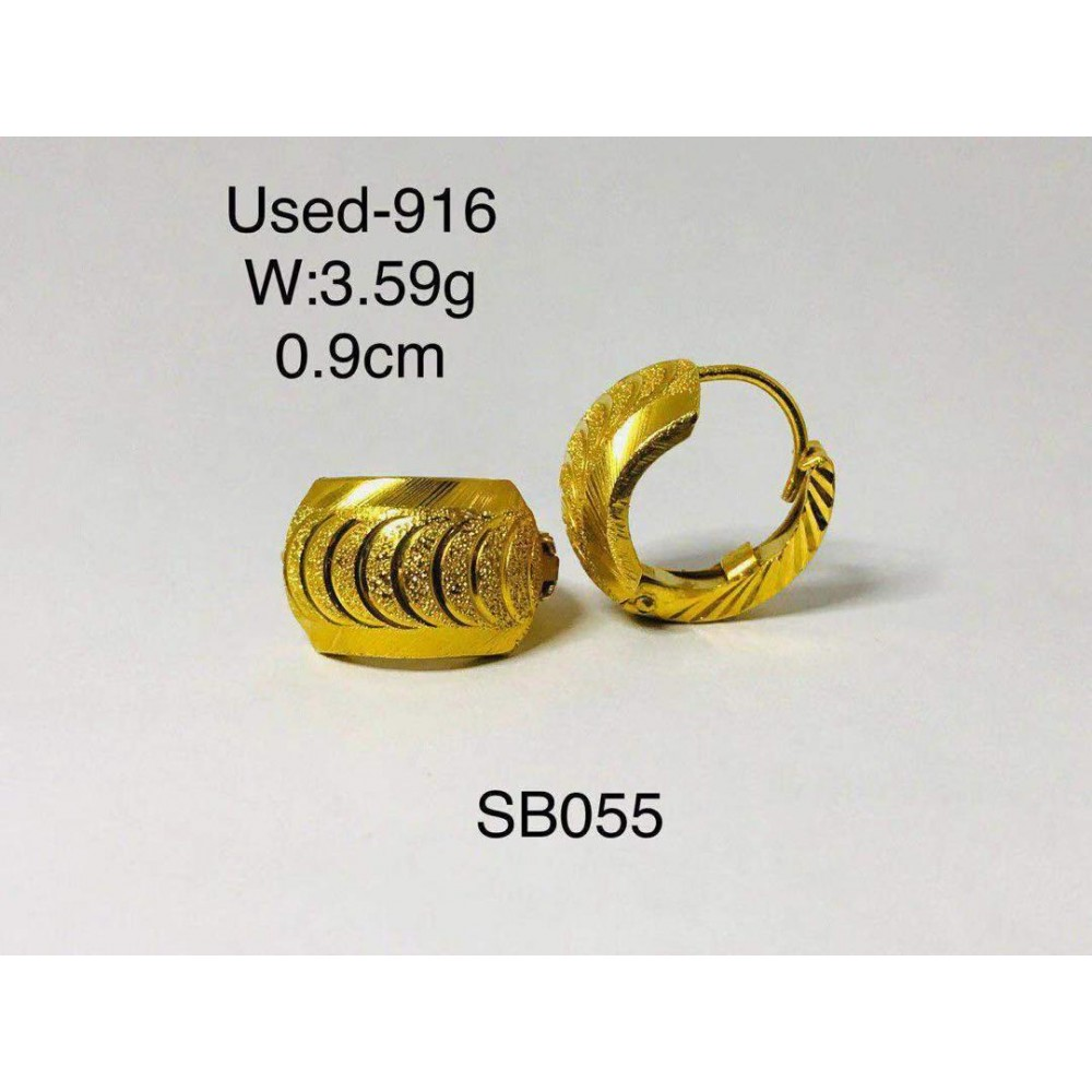 Pre-owned earring 916 gold