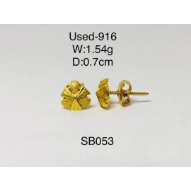 image of Pre-owned earring 916 gold