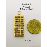 Pre-owned necklace pendant 916 gold