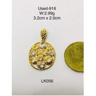 image of Pre-owned necklace pendant 916 gold