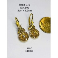 image of Pre-owned earring 375 gold
