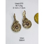 Pre-owned earring 375 gold