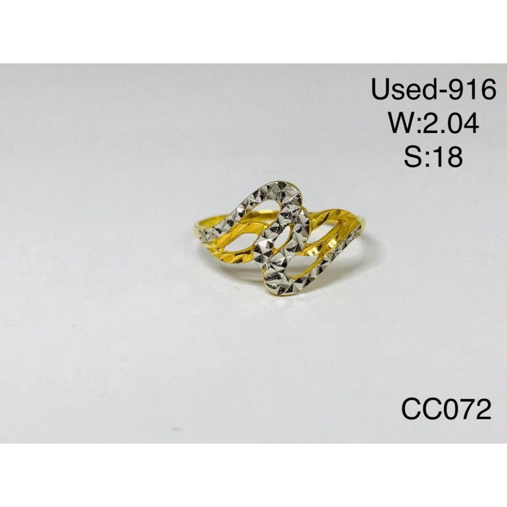 Pre-owned ring 916 gold