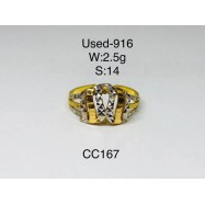image of Pre-owned ring 916 gold
