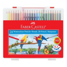 image of FABER CASTELL 24 COLOUR PENCIL WITH CASING