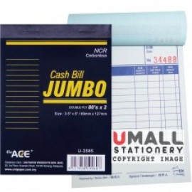 image of UNI JUMBO CASH BILL NCR 2 PLY X 80'S (U-3585) 2 FOR