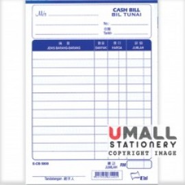 "image of UNI CASH BILL 5"" X 7"" 1 PLY (S-CB5800)10 FOR"