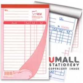 image of UNI BILL BOOK 3 PLY X 25'S (SBB-5803) 10 IN 1
