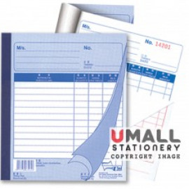 image of UNI BILL BOOK 2 PLY X 40'S (SBB-6702) 10 IN 1
