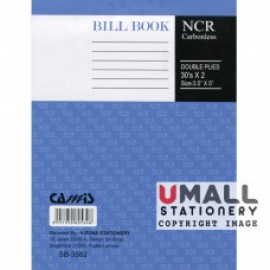 "image of CAMIS NCR BILL BOOK 3.5"" X 5"" (2 PLY X 30'S) SB-3582 (10 FOR)"