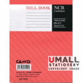 "image of CAMIS NCR BILL BOOK 3.5"" X 5"" (3 PLY X 20'S) SB-3583 (10 FOR)"